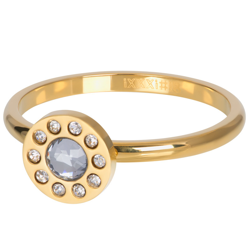 iXXXi Jewelry Vulring Diamond Circle Stone 2mm Goudkleurig