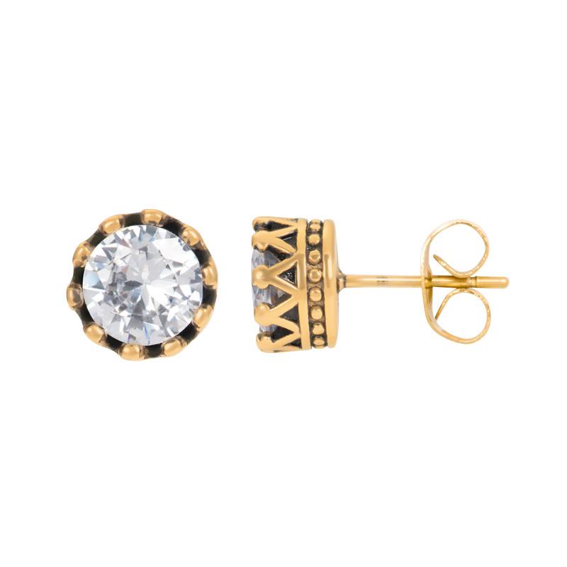 iXXXi Jewelry Ear Studs Crown Goudkleurig