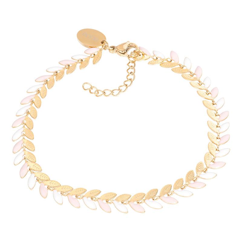 iXXXi Jewelry Bracelets Malediven Pink Goudkleurig