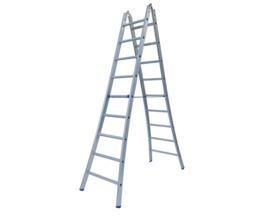 Solide Dubbele scharnier ladder 2x9