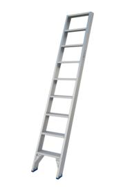 Solide enkele trap ET 9 treden 60cm breed + 1 stuks leuning + 2 haken