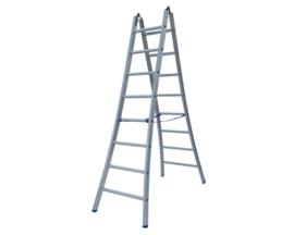 Solide Dubbele scharnier ladder 2x7