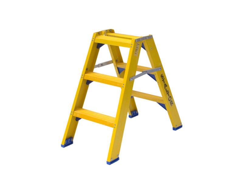 Staltor Dubbele Kunststof trap 3 treden
