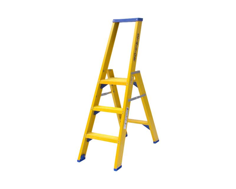 Staltor Enkele Kunststof trap 3 treden