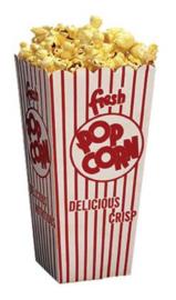 Popcornbekers 10 st.