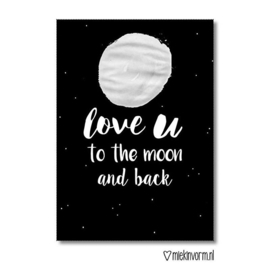 Love u to the moon and back | Kaart