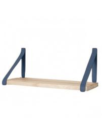 Leren plankdrager | Denim Blauw