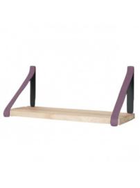 Leren plankdrager | Pruim
