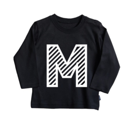 Striped Initial | Longsleeve