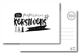 Papieren kerstwens | Kerstkaart