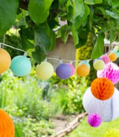 Cotton ball lights buiten, feestverlichting, 20 ballen, starterkit