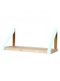 Leren plankdrager | Mint