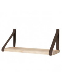 Leren plankdragers | Donkerbruin