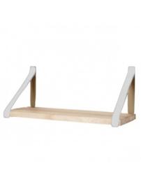 Leren plankdrager | Lichtgrijs