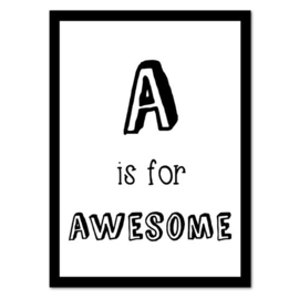 A is for Awesome | Poster A4