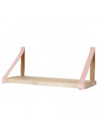 Leren plankdrager | Pink