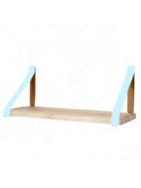Leren plankdrager | Aqua