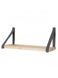 Leren plankdrager | Grijs