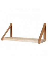 Leren plankdrager | Cognac