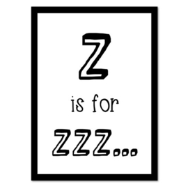 Z is for Zzz | Poster A4