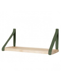 Leren plankdrager | Army Green