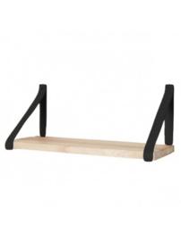 Leren plankdragers | Zwart