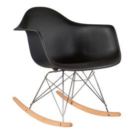 Eames RAR Schommelstoel | Zwart