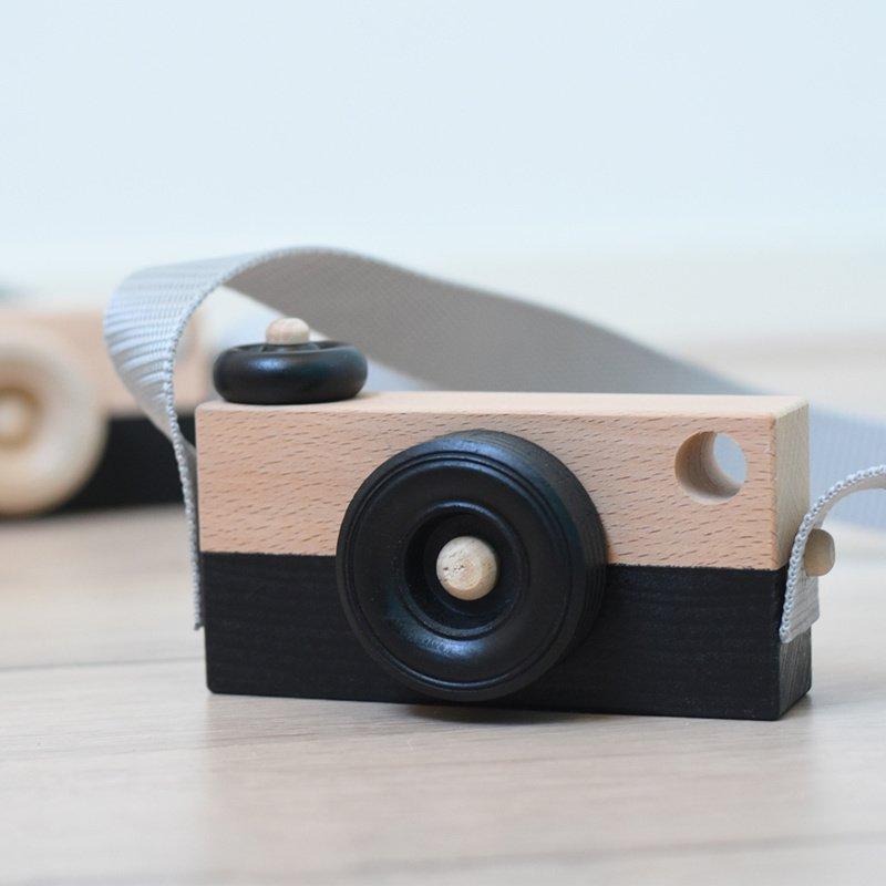 Houten Camera | Zwart