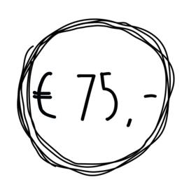 Cadeaubon t.w.v. €75,-