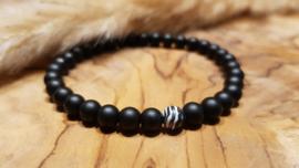 Natuursteen armband matte Onyx Agaat