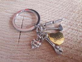 Vaderdag sleutelhanger I♡youDAD