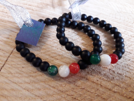 Natuursteen armband Tricolore KIDS