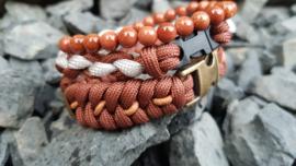 "Stoere set paracord/natuursteen armband  ""Serpente"""