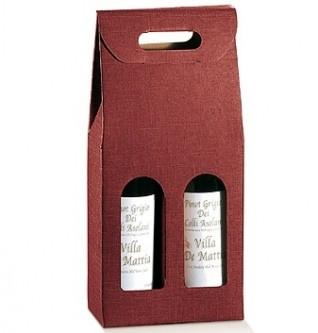 cadeau verpakking voor 2 flessen wijn (exclusief inhoud)