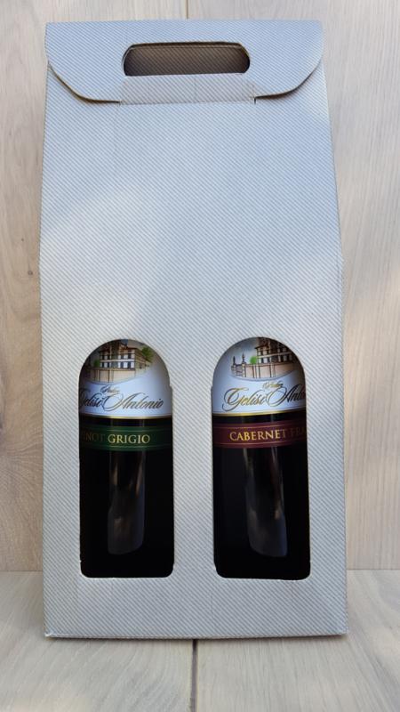 cadeau verpakking inclusief 2 flessen wijn