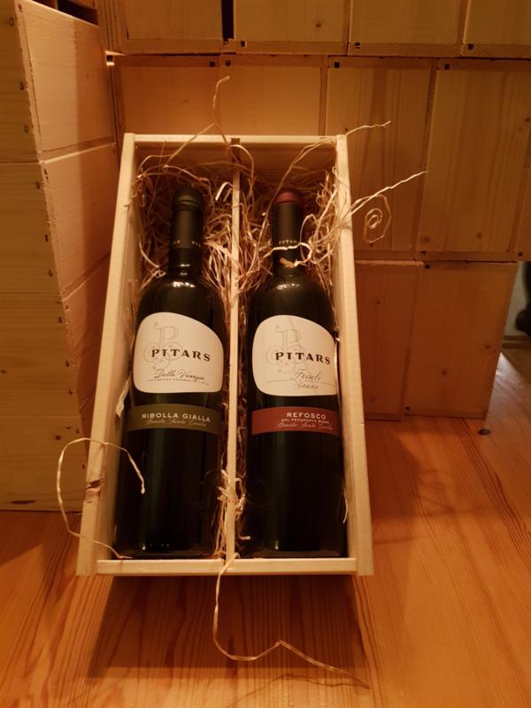 luxe wijnkist met 2 mooie wijnen