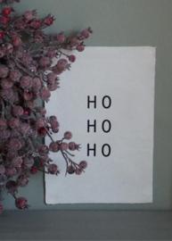 Kerst wanddoek 'Ho Ho Ho' - 29x21cm