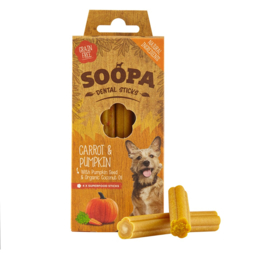 Soopa dental sticks carrot & pumpkin
