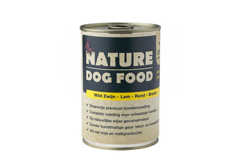 Nature Dog Food wild zwijn, lam, rund & braam 400 gram