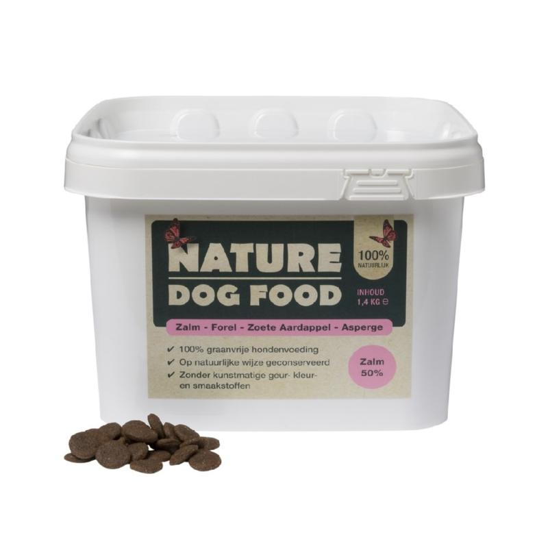 Nature Dog Food zalm, forel en asperge 1,4kg