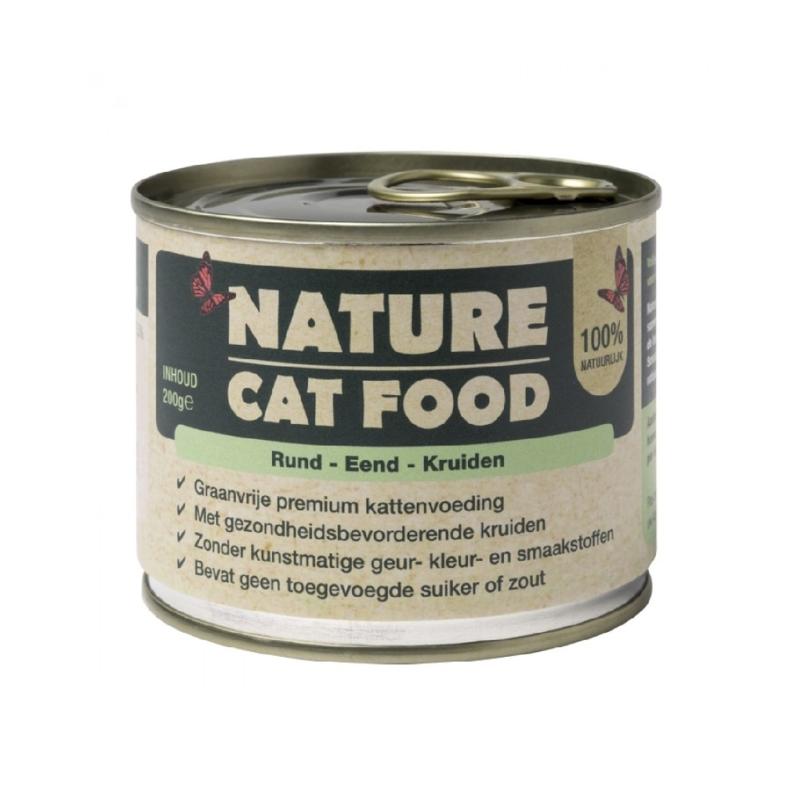 Nature Cat Food rund, eend & kruiden 6x 200 gram