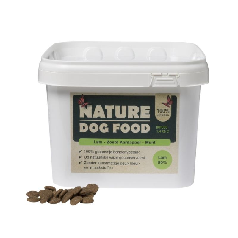 Nature Dog Food lam en munt 1,4kg
