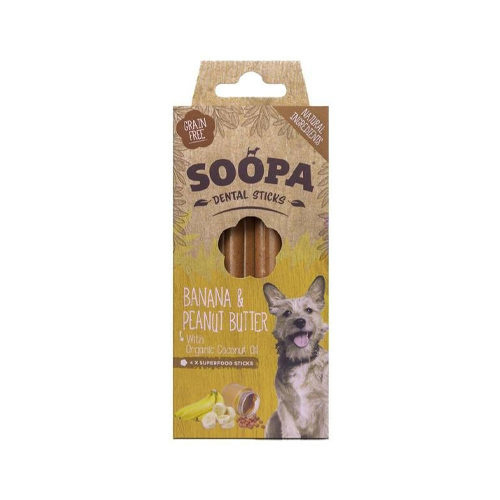 Soopa dental sticks banana & peanut butter