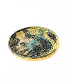 Resin Art Nature Strass Gold