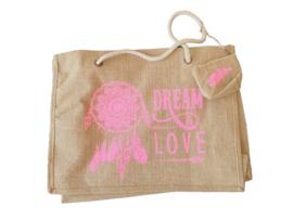 Beach Shopper Dream&Love Pink