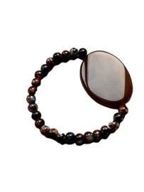 Armband met Bruine Agaat