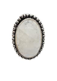 Zilveren Ring met Sri Lanka Maansteen Ovaal
