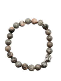 Armband met Zebra Jaspis en Boeddha