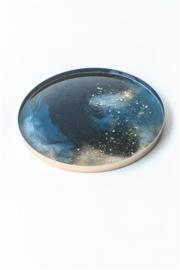Resin Art Dienblad Galaxy Goud/Blauw