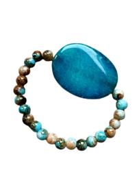 Armband met Blauwe Agaat